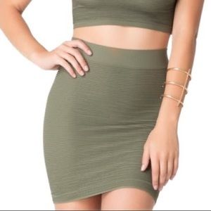Bebe Olive Bodycon Skirt